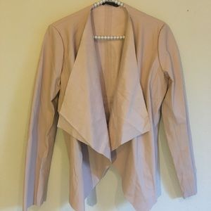 New Zara Blush Pink Faux Leather Jacket